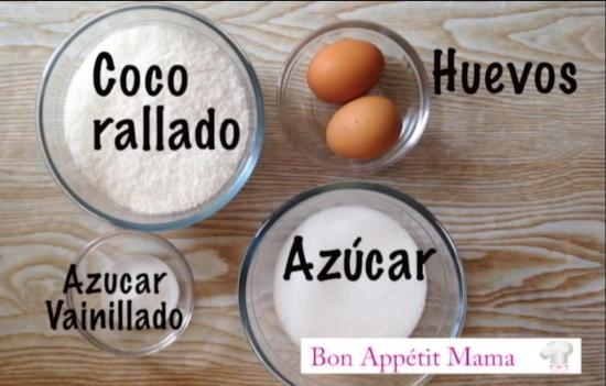 Ingredientes, coquitos