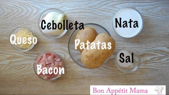 patatas gratinadas, patatas gratin