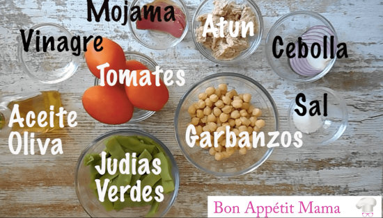 ensalada de garbanzos ingredientes