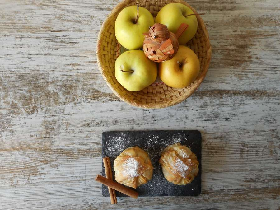 Paquetitos sorpresa de manzana
