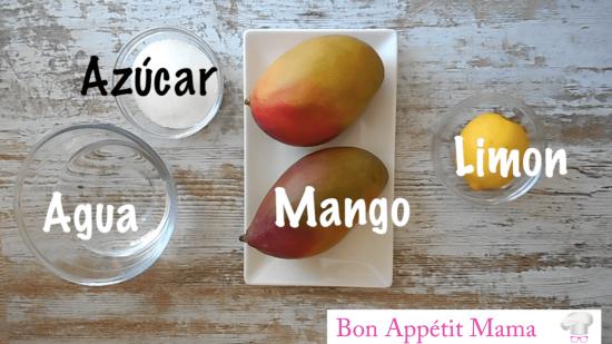 sorbete mango helado
