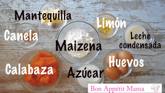 Ingredientes quesada