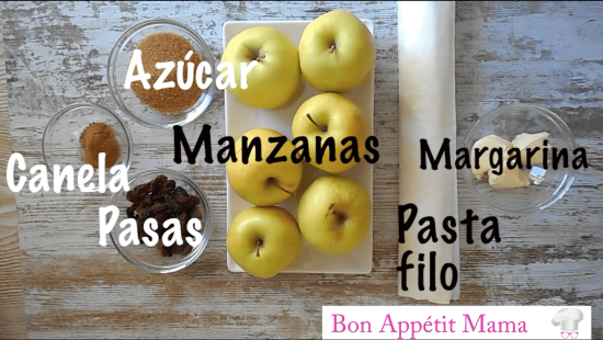 paquetitos de manzana ingredientes