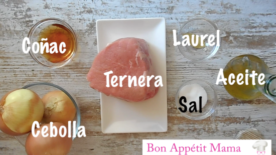 ingredientes ternera encebollada