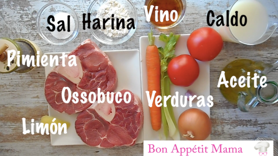 Ingredientes ossobuco