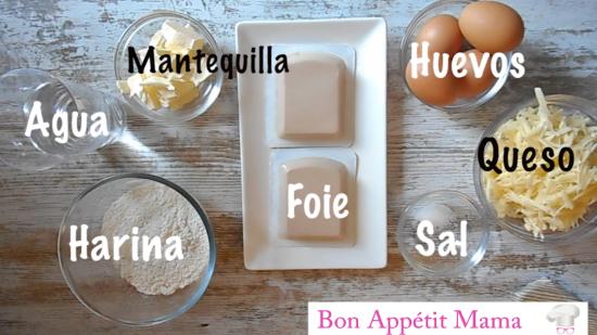 Ingre petits choux foie-gras