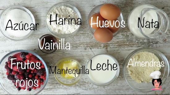 ingre pastel frutos rojos