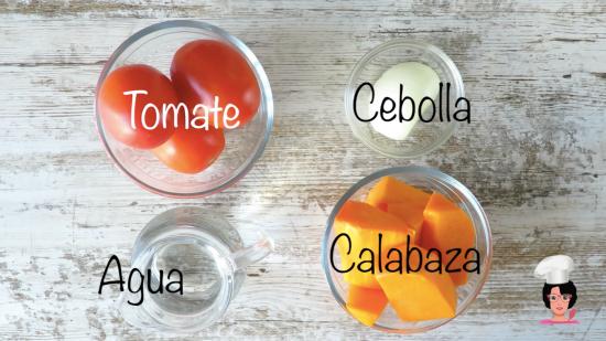 crema calabaza y tomate ingre