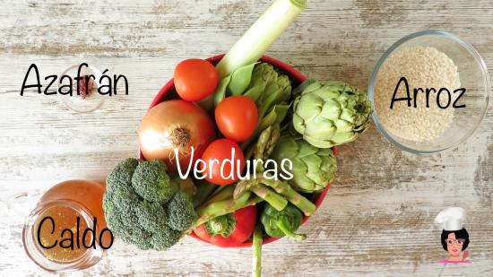 ingre paella verduras