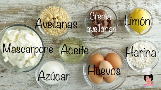Ingre tarta chocoavellanas