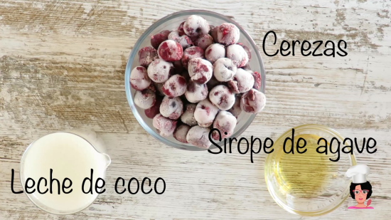ingredientes helado de cerezas
